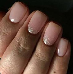 Effect manicures Spring Manicure Ideas Nude Nails Natural Trendy Ideas Spring Manicure Ideas Nude Nails Natural Trendy Ideas Neutral Nails, Nude Nails, Acrylic Nails, My Nails, Gliter Nails, Gel Toe Nails, Diy Wedding Nails, Bridal Nails, Manicure And Pedicure