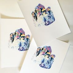 Available on Mineraliety in the Johanna Martin shop is this Titanium Aura Quartz print. Her illustrations are so lovely!
