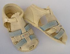 Vintage Handmade Felt Baby Shoes by Upcycle and Remix