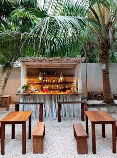 eric werner and mya henry - chef and restaraunt owners at the valladolid farmers market and at their restaraunt hartwood - tulum mexico - Diy Outdoor Bar, Outdoor Cafe, Outdoor Spaces, Outdoor Decor, Outdoor Living, Outdoor Kitchens, Outdoor Chairs, Coffee Shop Design, Cafe Design