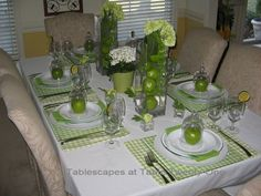 tablescapes | have had lots of requests for pink & green tablescapes, but this is ...