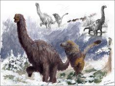Conceptual Wooly brachiosaur by Frederik Spindler