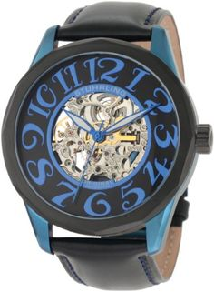 Stuhrling Original Mens 227A332L515 Classic Traveler Viola Automatic Skeleton Black Dial Watch >>> Read more reviews of the product by visiting the link on the image. (This is an affiliate link) #BabyGWatch