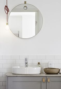Loving the basin cabinet and colour, would make a neat little set, could use mirror reflection to advantage too!!