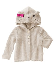 Bear Hooded Sweater at Gymboree (Gymboree 6m-5t)