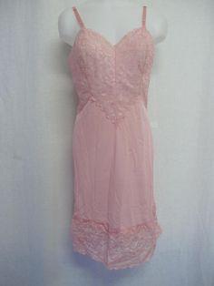 Pretty Lingerie, Vintage Lingerie, Little Dresses, Pretty Dresses, Pink Vanity, Pink Nightgown, Paisley Dress, Satin Slip, Ladies Slips