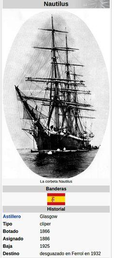 La corbeta Nautilus, fue un buque escuela de la Armada Española. Fue botado en Glasgow (Escocia), y originalmente, era un clíper de 59 metros de eslora, 34 velas y 1500 toneladas de desplazamiento, al que se le dio el nombre de Carrick Castle.