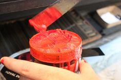 Neon Red Letterpress Ink