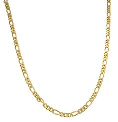Gold-Tone Plated Sterling Silver 5.5 mm Hand Made Figarope Hip Hop Chain Necklace