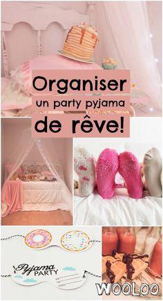 Organize a dream pajama party Pajama Party Kids, Pyjamas Party, Sleepover Party, Spa Party, Slumber Parties, Pyjama Party Fille, Couple Pajamas, Diy Invitations, Summer Diy