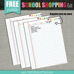 The Polka Dot Posie: Your Back-to-School Countdown Checklist! Dj School, New School Year, School Days, Back To School, School Stuff, School Shopping, Shopping Lists, Welcome Back Letter, School Countdown