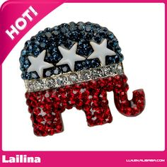 Find More Brooches Information about Crystal Republican Logo Pin/Brooch  Elephant Brooch Lapel Pin,High Quality brooches purple,China pin module Suppliers, Cheap brooches and pins for dresses from Lailina Jewelry Co., Ltd on Aliexpress.com