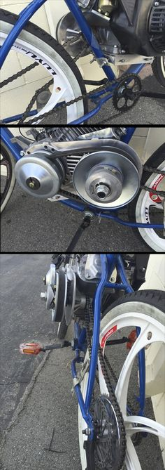 This scrambler motorcycle ideas is certainly an inspirational and superior idea Gas Powered Bicycle, Bicycle Engine Kit, Bike Kit, Bike Motor, Motorised Bike, Drift Trike, Cafe Racer Build, Motorized Bicycle, Scrambler Motorcycle