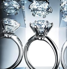 The diamond floats above a delicate basket in the iconic Tiffany® Setting, allowing light to enter and exit the stone from all angles and resulting in maximum brilliance. Tiffany Engagement, Diamond Engagement Rings, Cz Wedding Bands, Wedding Rings, Do It Yourself Fashion, Ring Verlobung, Solitaire Ring, Tiffany Jewelry, Piercings