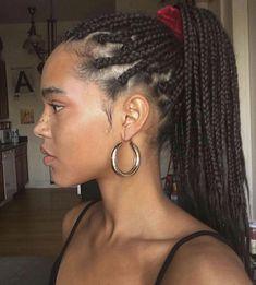 Fishtail Braid #BraidedHairstyles Large Box Braids, Short Box Braids, Jumbo Box Braids, Curly Braids, Box Braids Hairstyles, Try On Hairstyles, Drawing Hairstyles, Halloween Hairstyles, Hairstyle Short