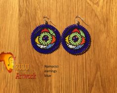 Zulu bead work handcrafted by Zulu women South Africa by ZULUArtwork Zulu Women, South Africa, Crochet Earrings, Beads, Creative, Artwork, Handmade, Crafts, Etsy