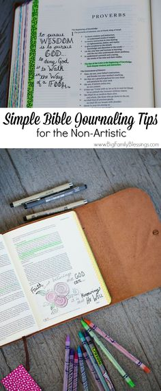 Simple Bible journaling tips for the non-artistic.