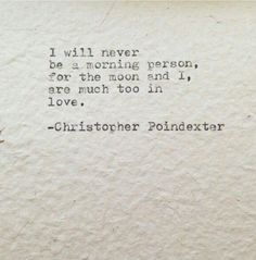 Ode to the moon - Christopher Poindexter