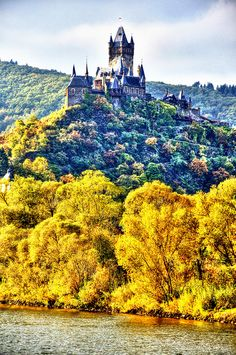 Autumn in Cochem Castle, Germany