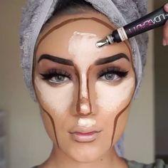Make-up / Make-up-Tipps (World make up) . - Make-up / Make-up-Tipps (World make up) Kohl Makeup, Eye Makeup, Night Makeup, Daily Makeup, Highlighter Makeup, Contour Makeup, Contouring And Highlighting, Beauty Make-up, Beauty Hacks