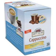 Grove Square Cappuccino Cups, French Vanilla, Single Serve Cup for Keurig K-Cup Brewers, 24 Count (Pack of 2) - http://thecoffeepod.biz/grove-square-cappuccino-cups-french-vanilla-single-serve-cup-for-keurig-k-cup-brewers-24-count-pack-of-2/