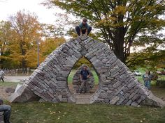 Venus Gate Amphitheatre built at The 2011 Canadian Dry Stone Walling Festival in Hart House Farm, Caledon, Ontario, Canada. Photo by Sean Adcock.