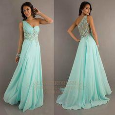 One shoulder sheer back pageant formal/prom dress