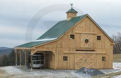 practical Circle B horse barn