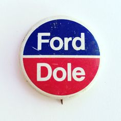 Vintage Ford Dole political campaign button by MyVintageApartment