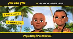 The Obi and Titi website is an educational site based on the stories of two adventurous young children. Here, you can learn the true story of Africa's role in early civilisation through stories, games and animation. Black Characters, Kid Character, Help Teaching, African History, True Stories, Childrens Books, Literacy, Animation, Adventure