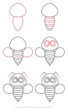 How to draw a bee