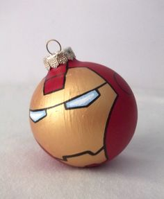 Avengers Iron Man Painted Holiday Christmas Ornament by GingerPots, $17.00