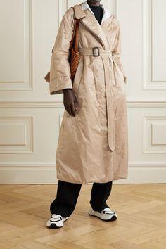 Бежевое пальто The Cube Cameluxe с поясом   Макс Мара   NET-A-PORTER