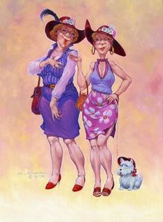Red hatters and we are off. giggle to make your eyes water. Friends Forever, Best Friends, Getting Older Humor, Red Hat Club, Red Hat Ladies, Wearing Purple, Thelma & Louise, Red Hat Society, Red Hats