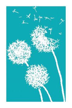 Handmade Dandelion Silhouette PDF van BellaStitcheryDesign op Etsy