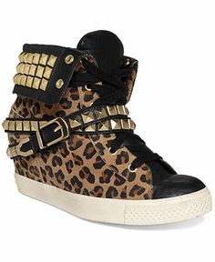 Betsey Johnson Liannaa Wedge Sneakers - All Women's Shoes - Shoes - Macy's Wedge Sneakers Style, Shoes Sneakers, Women's Shoes, Wild Style, My Style, What Should I Wear Today, Valentine Day Gifts, Valentines, Betsey Johnson