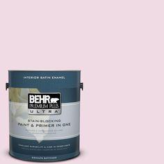 BEHR Premium Plus Ultra 1-gal. #M130-1 Pink Posies Satin Enamel Interior Paint