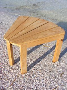 Wedged Side Table - Adirondack Style
