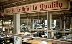 A look into a legend, the Oxxford Clothing factory in Chicago. / Be Faithful to Quality