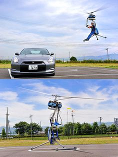 GEN is World's Smallest One-Man Helicopter Personal Helicopter, Helicopter Plane, Futuristic Technology, Technology Logo, Drones, Flying Vehicles, Off Road Buggy, Solar Car, Experimental Aircraft