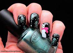 New christmas nail design uas pinterest easy christmas 101 cute christmas nail designs for the festive season nail art hairstyles beauty prinsesfo Images