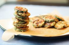 Crisp Zucchini Medallions. Crisp on the outside, warm and tender on the inside. By far my favorite way to prepare this tasty squash!