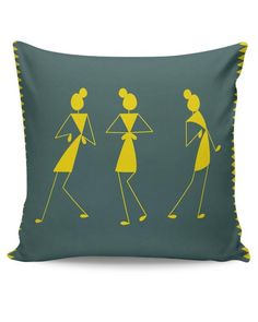 Buy Cushion Covers: Shop for designer print cushion covers online in india. Worli Painting, Fabric Painting, Fabric Art, Cushion Cover Designs, Pillow Cover Design, Diy Cushion Covers, Pillow Covers, Diy Pillows, Decorative Pillows
