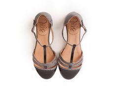 Sandals in black and grey. Handmade in Argentina.  * Leather upper * Leather insole * Leather sole * 1/3 inch heel * Super comfy  Made as before, with love and dedication.  If you are unsure of your size, please, feel free to send your foot measurements to ensure perfect fit. FLAT SHOE SIZES  US 4 - EUR 34 inner sole 22 cm US 5 - EUR 35 inner sole 22,8 cm US 6 - EUR 36 inner sole 23,5 cm US 7 - EUR 37 inner sole 24,1 cm US 8 - EUR 38 inner sole 24,8 cm US 9 - EUR 39 inner sole 25,4 cm U...