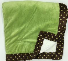 Koala Baby Green Brown Polka Dot Blanket Velour Plush Safe Cream Babies R Us Hooded Bath Towels, Baby Bling, Girl Cribs, Babies R Us, Bandana Bib, Green And Brown, Baby Items, Polka Dots, Plush
