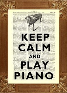 Items similar to Keep calm Print, Keep calm and play piano Print Dictionary art prints Book page Keep calm art decorative wall art on Etsy Piano Y Violin, The Piano, Piano Music, Sheet Music, Piano Room, Music Sheets, Piano Keys, I Love Music, Music Is Life