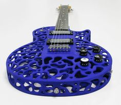 rendered 3D-Printed Guitar created by kiwi inventor Olaf Diegel