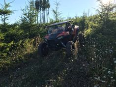 Vent Racing Trucker cage on a 2-seat Polaris RZR XP 1000 out in the wild of Washington state.