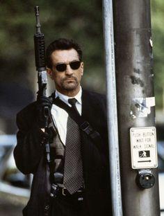Robert De Niro in Heat, a 1995 film ,directed and written by Michael Mann.