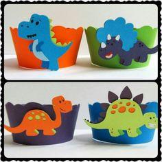 Dinosaur Cupcake Wrappers, Dinosaur First Birthday, Dinosaur Decorations, Dinosaur Baby Shower